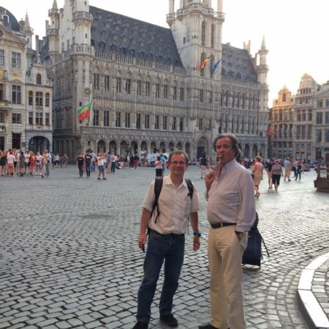 Elie et Thierry à Bruxelles