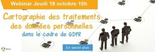 Cartographie des traitements des données personnelles dans le cadre de GDPR