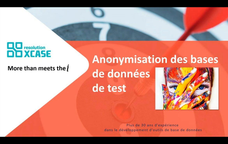 Démo de 30 minutes de Anonymize-DB